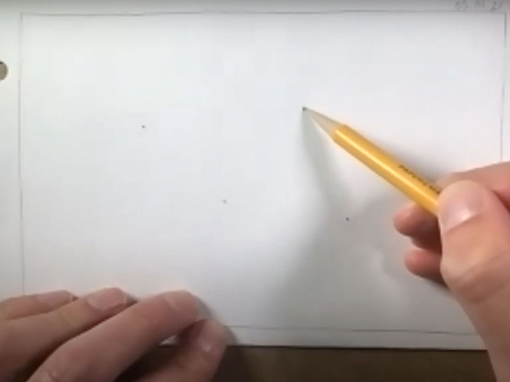 how to draw a butterfly - step 1
