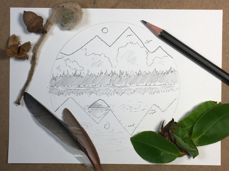 How to Draw an Easy Mountain Scene [FREE TUTORIAL]