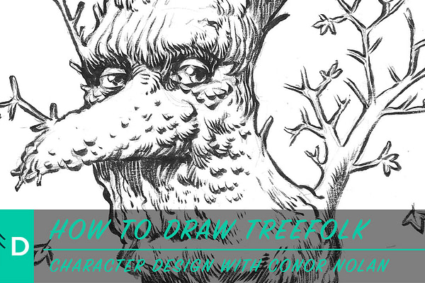 how to draw tree people
