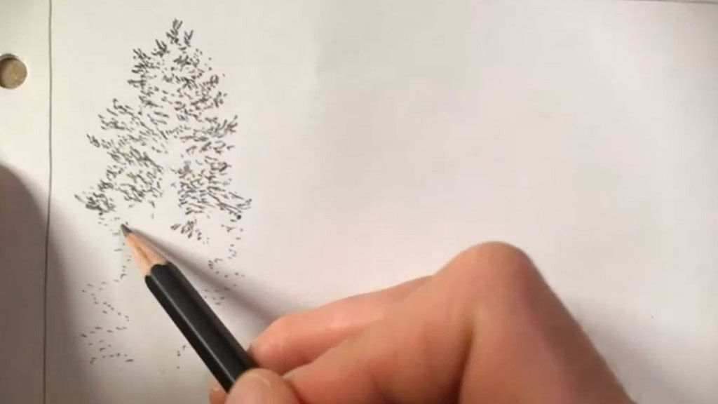 how to draw a tree - step 3