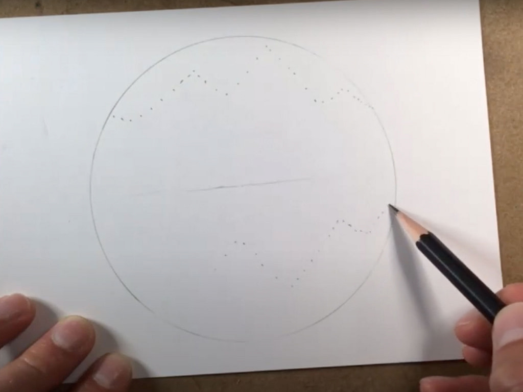 how to draw an easy mountain scene - step 2
